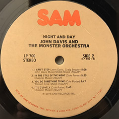 JOHN DAVIS AND THE MONSTER ORCHESTRA:NIGHT AND DAY(LABEL SIDE-B)