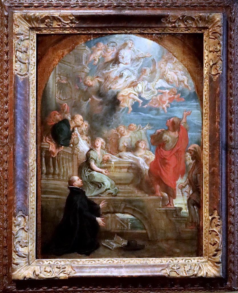 IMG_0904H Theodoor van Thulden. 1606-1669. Hertogenbosch The vision of Ignatius of Loyola. La vision d'Ignace de Loyola.  vers 1660. Hertogenbosch. Het Noordbrabants Museum