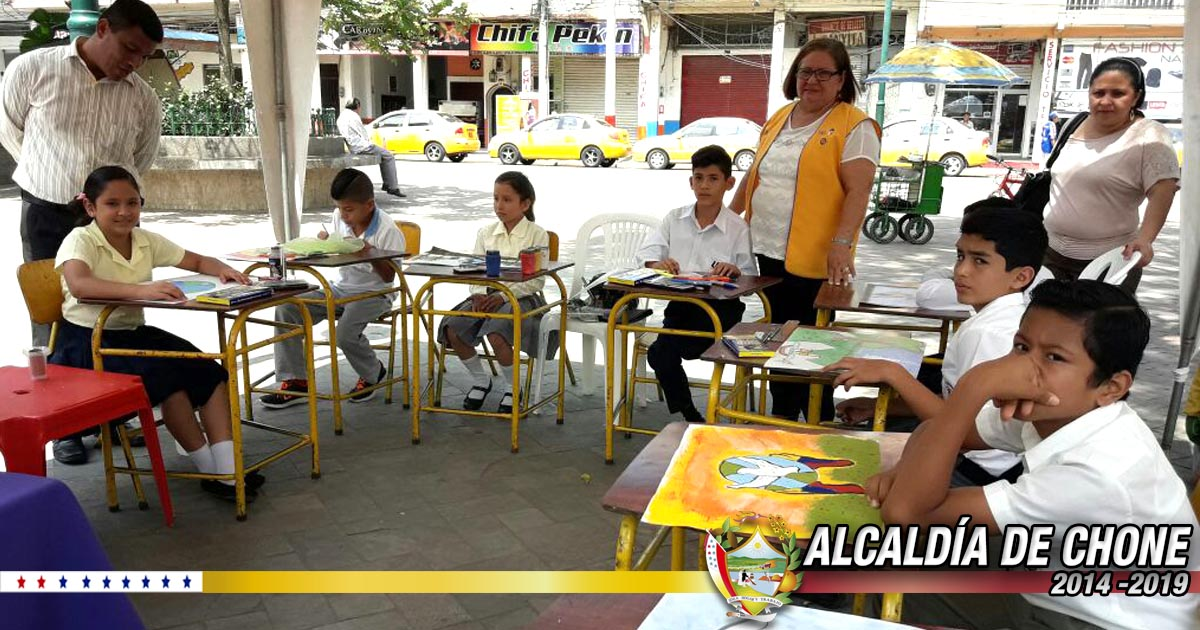 Con el aval municipal el Club de Leones realizó concurso de pinturas con el tema Cartel de la Paz