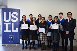 """El pasado 24 de octubre se desarrolló el programa de Descubrimiento Vocacional de USIL y Junior Achievement, denominado """"Gerente por un día"""", para alumnos destacados de diferentes colegios de Lima Metropolitana."""