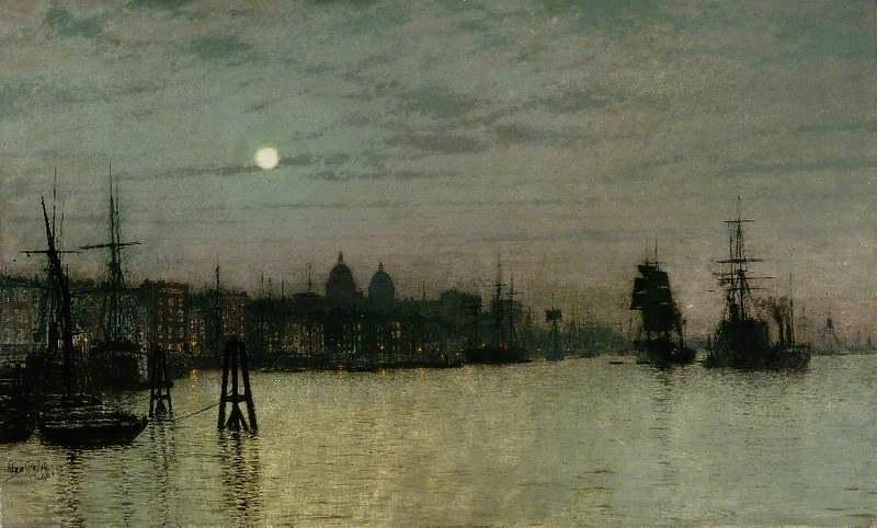 Greenwich, Half Tide by John Atkinson Grimshaw, 1884