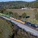 RailfanTerry posted a photo:Drone Shot of NS Train 215 as they depart Burnside heading into Tateville