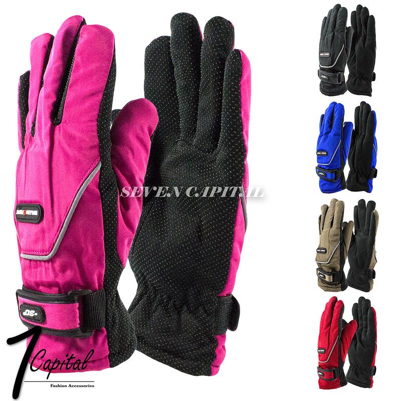 Womens Men Winter Warm Thermal Anti Slip Ski Gloves Snowboarding Driving Gloves