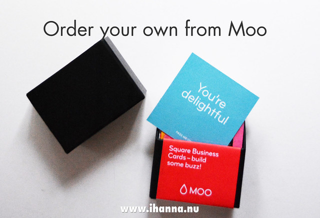 Order your own printed business card or post card or glossy stickers from Moo