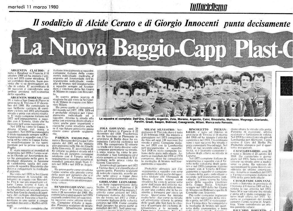 La Nuova Baggio 1980