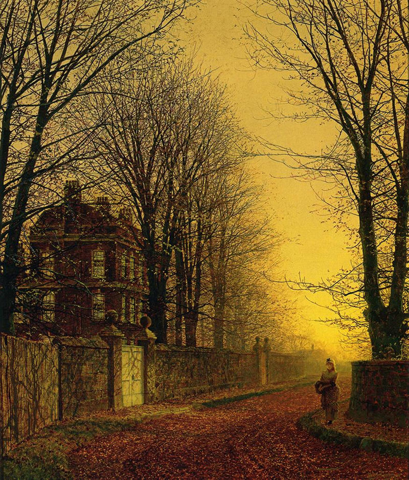 Autumn Gold by John Atkinson Grimshaw, 1880