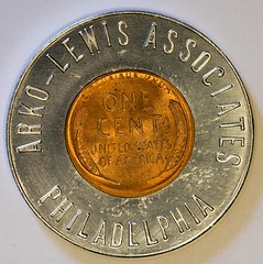 1946 Arko-Lewis Associates Encased Cent reverse