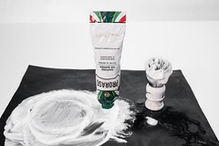 Proraso shaving cream and example foam
