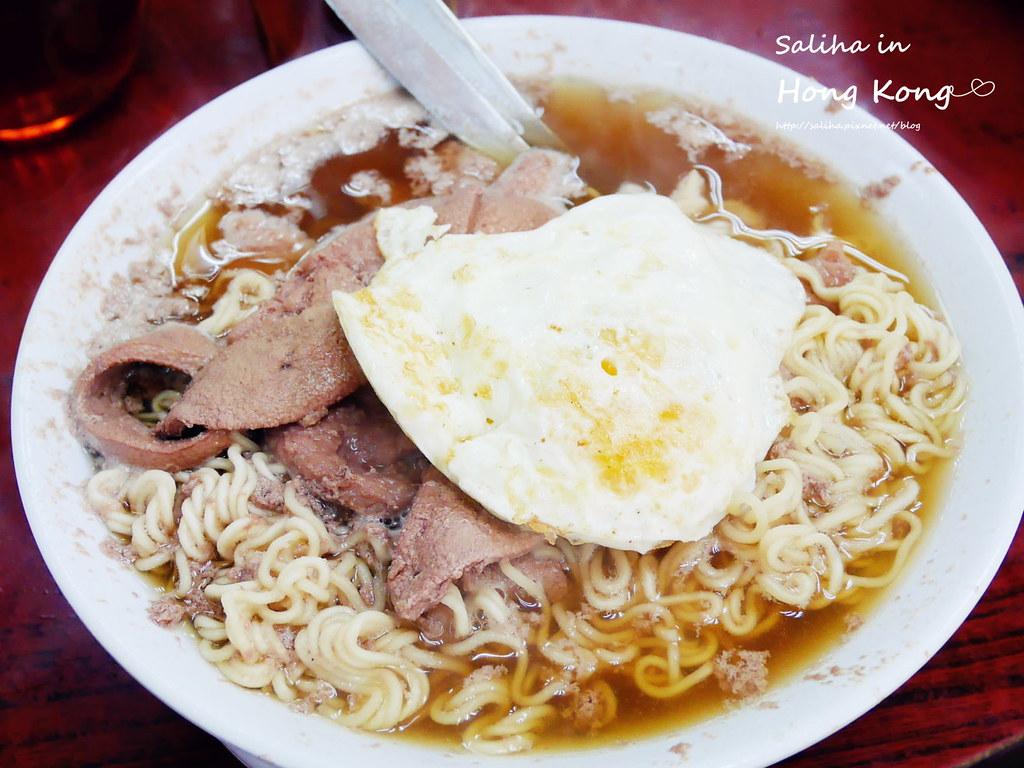 香港餐廳推薦維記咖啡粉麵豬潤麵 (1)