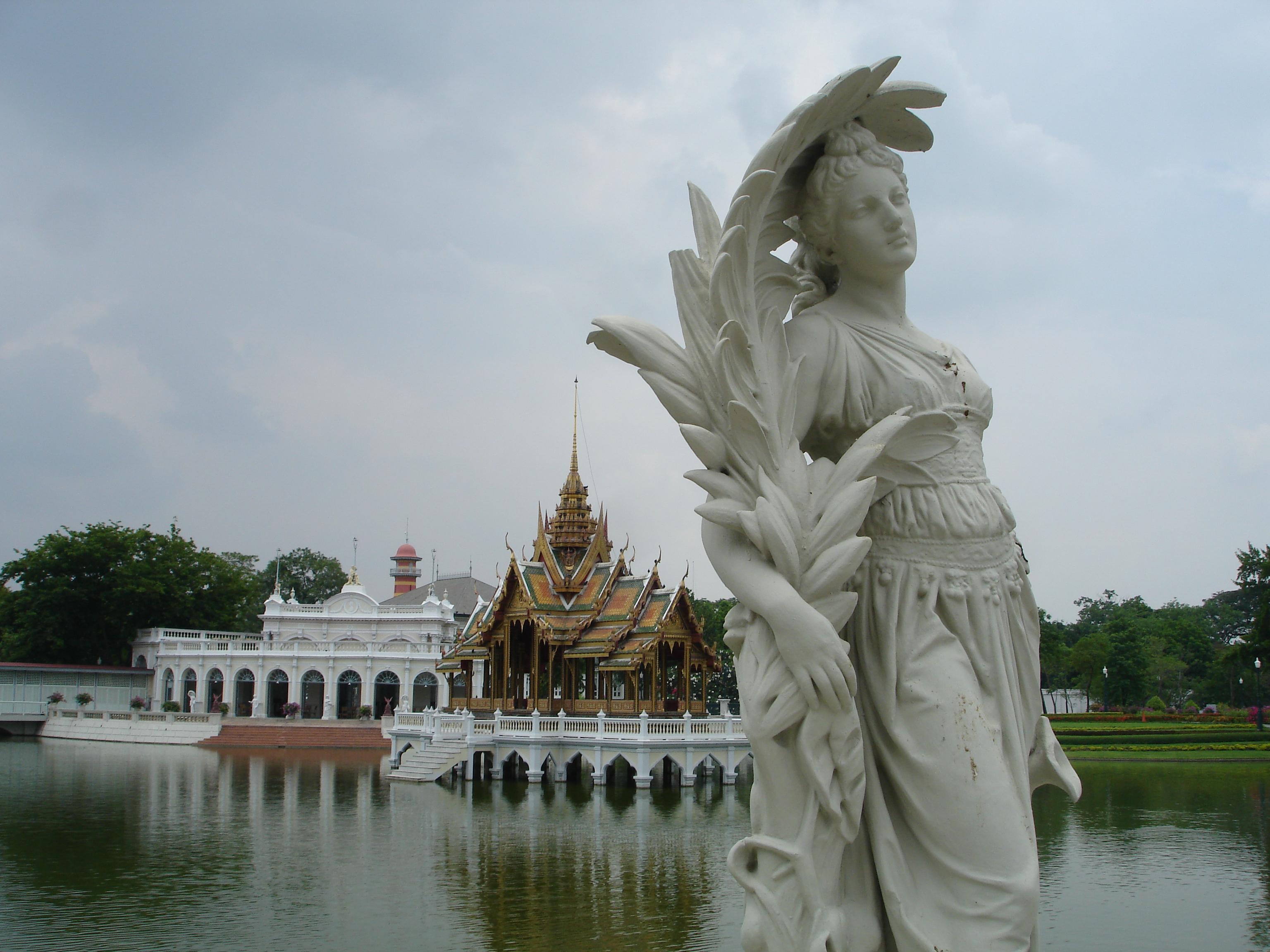 The Outer Palace on Bang Pa-In Island, Bang Pa-In Royal Palace. Photo taken by Mark Jochim on May 16,2006.