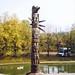 Totem Pole at Berkhamstead, Hertfordshire, 13th October 1990