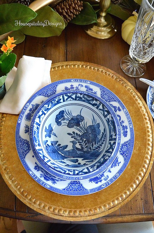 Blue and White place setting-Housepitality Designs