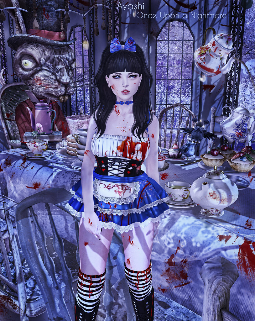 [^.^Ayashi^.^] Blood Alice hair and hunt choker special for The Once upon a Nightmare