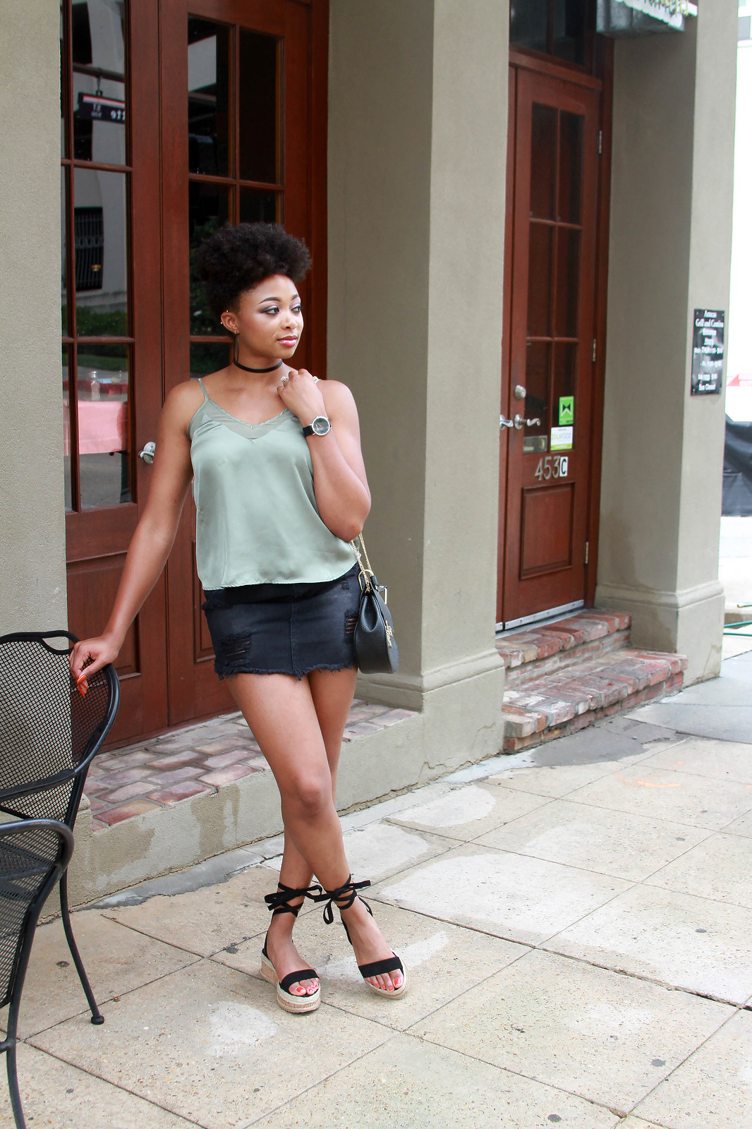 how to wear a silk cami, candace hampton