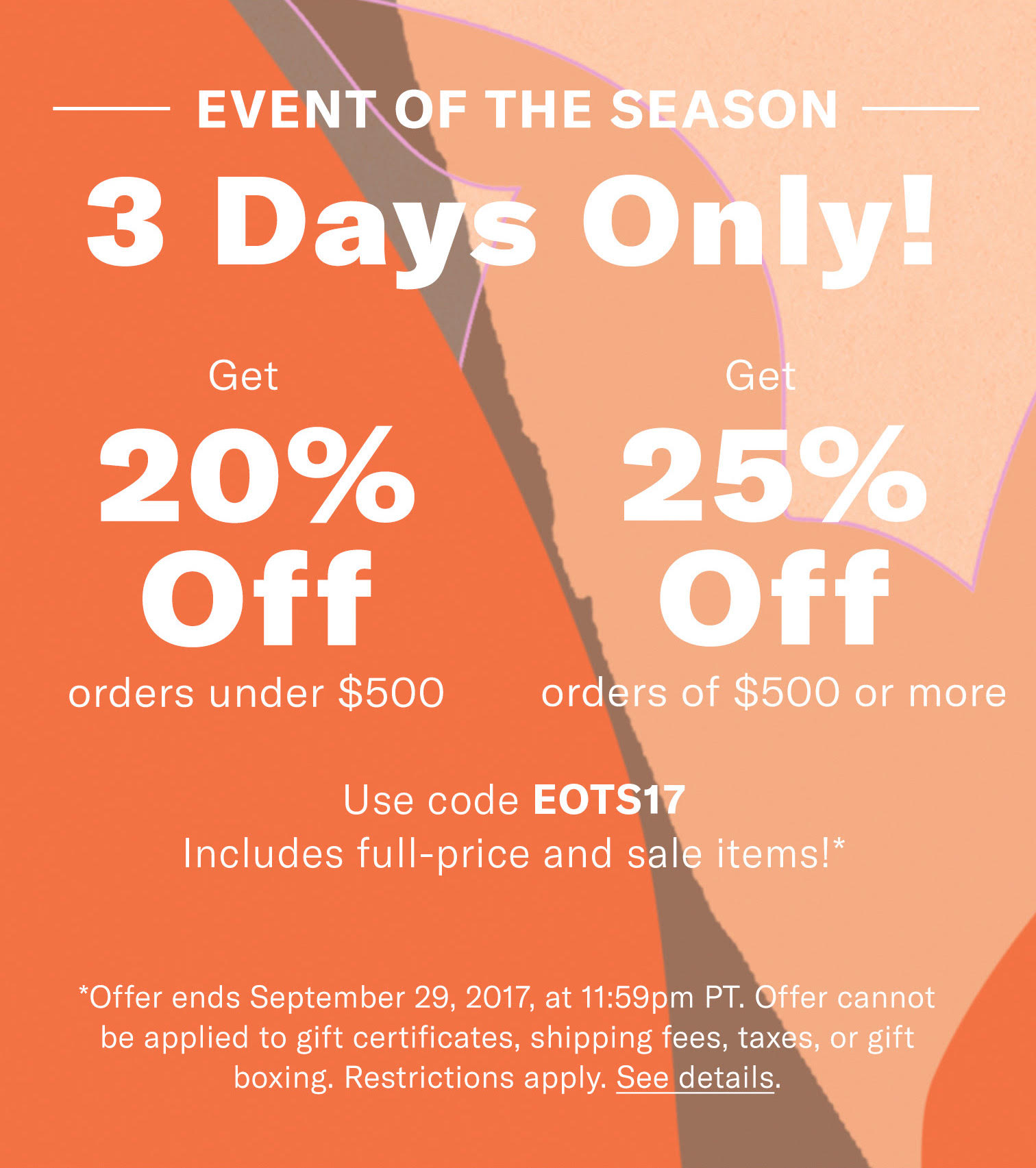 shopbop event of the season