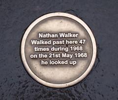 Photo of Nathan Walker bronze plaque