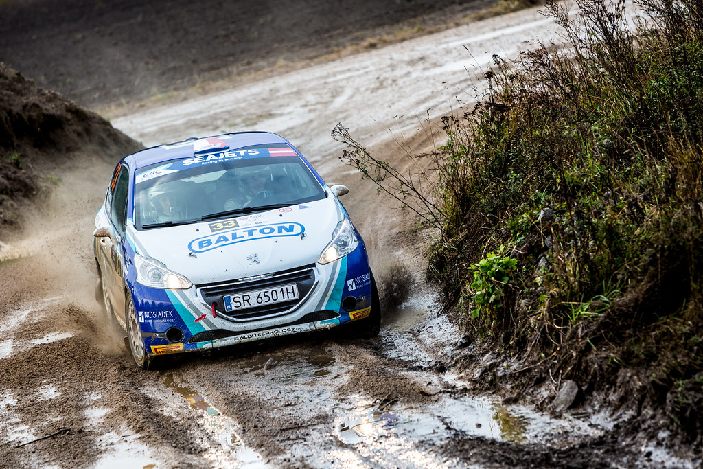 33 Polonski Dariusz and Gryczynska Balbina, Rally Technology, Peugeot 208 R2 action during the 2017 European Rally Championship ERC Liepaja rally,  from october 6 to 8, at Liepaja, Lettonie - Photo Thomas Fenetre / DPPI