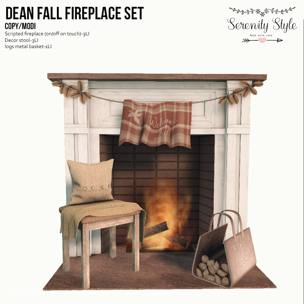 Serenity Style- Dean Fall Fireplace - TeleportHub.com Live!