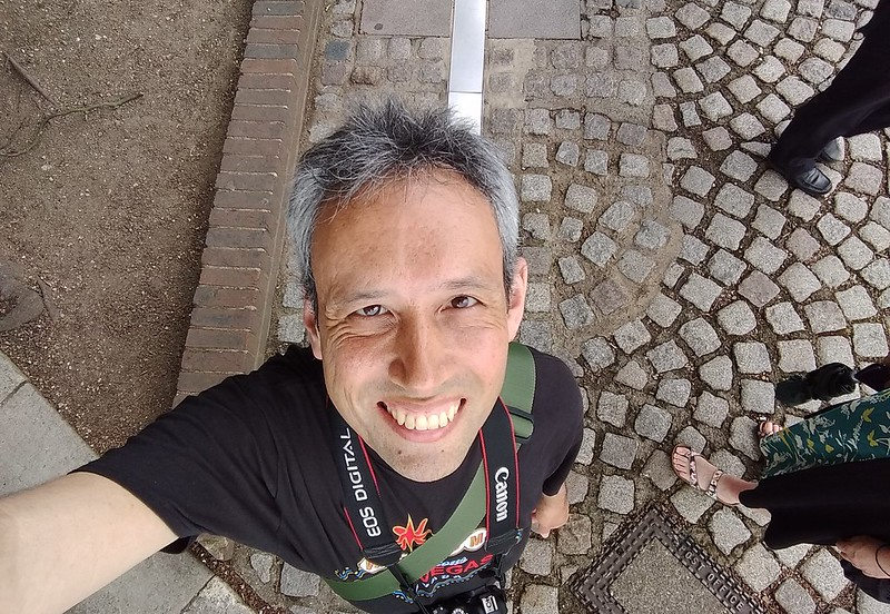 Selfie at the Prime Meridian