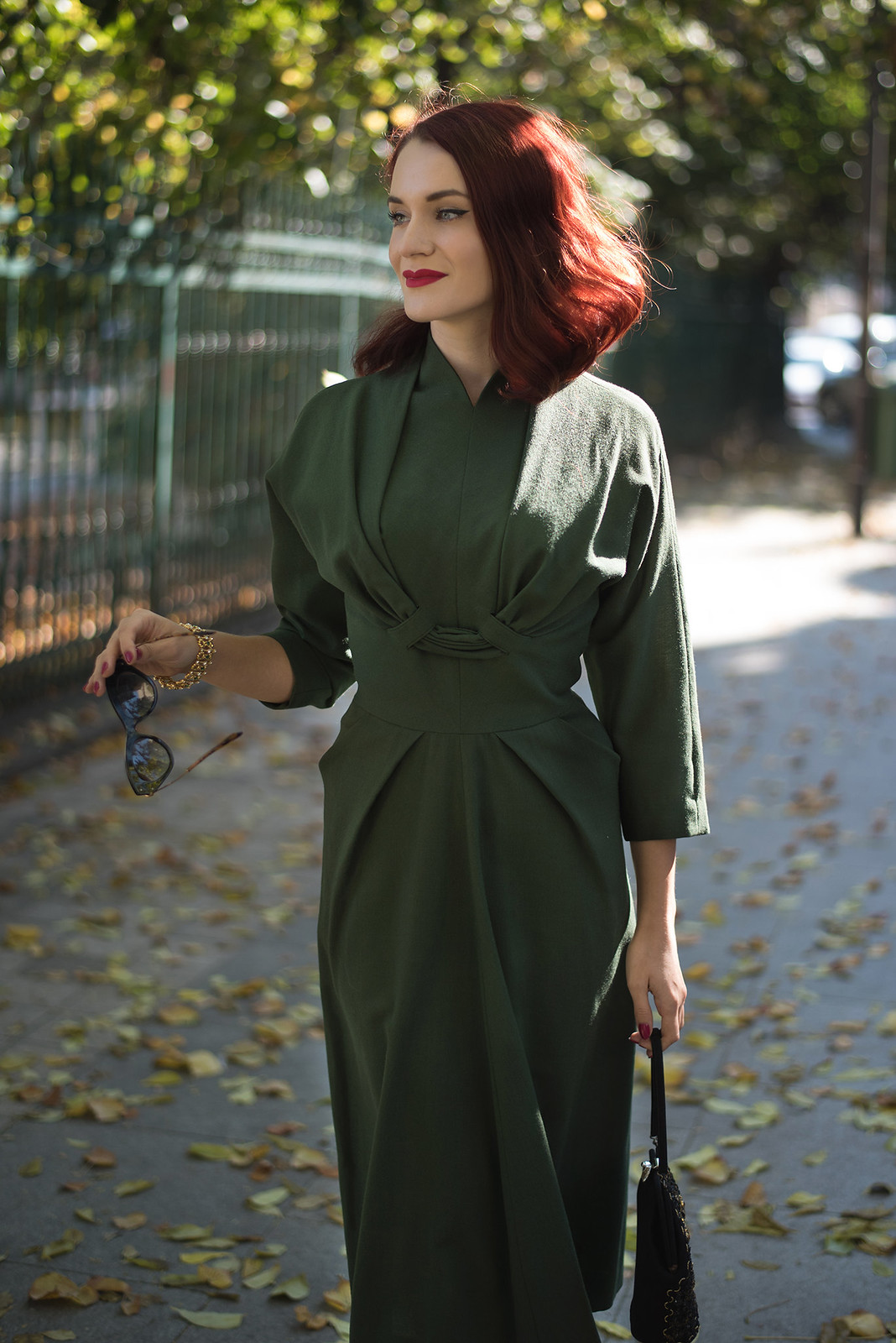 military green dress2