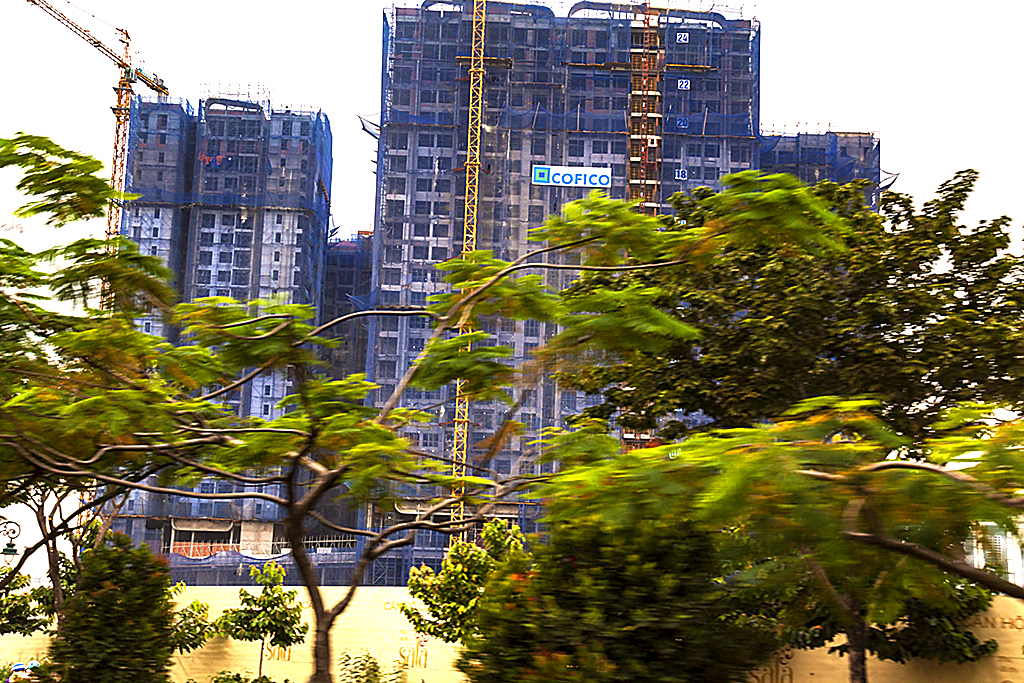 Highrise under construction--Saigon