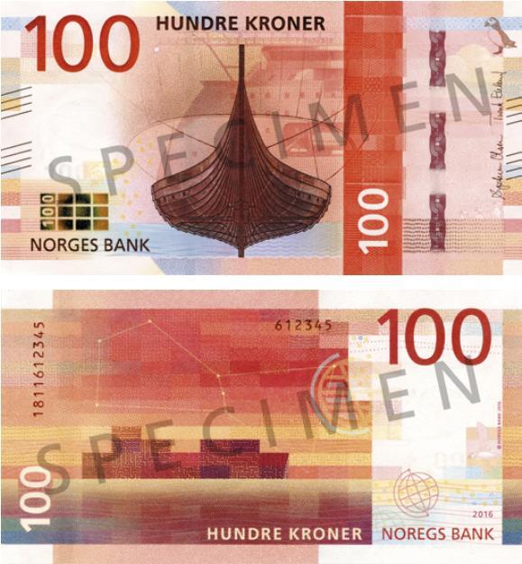 Nová 100-korunová bankovka Nórska