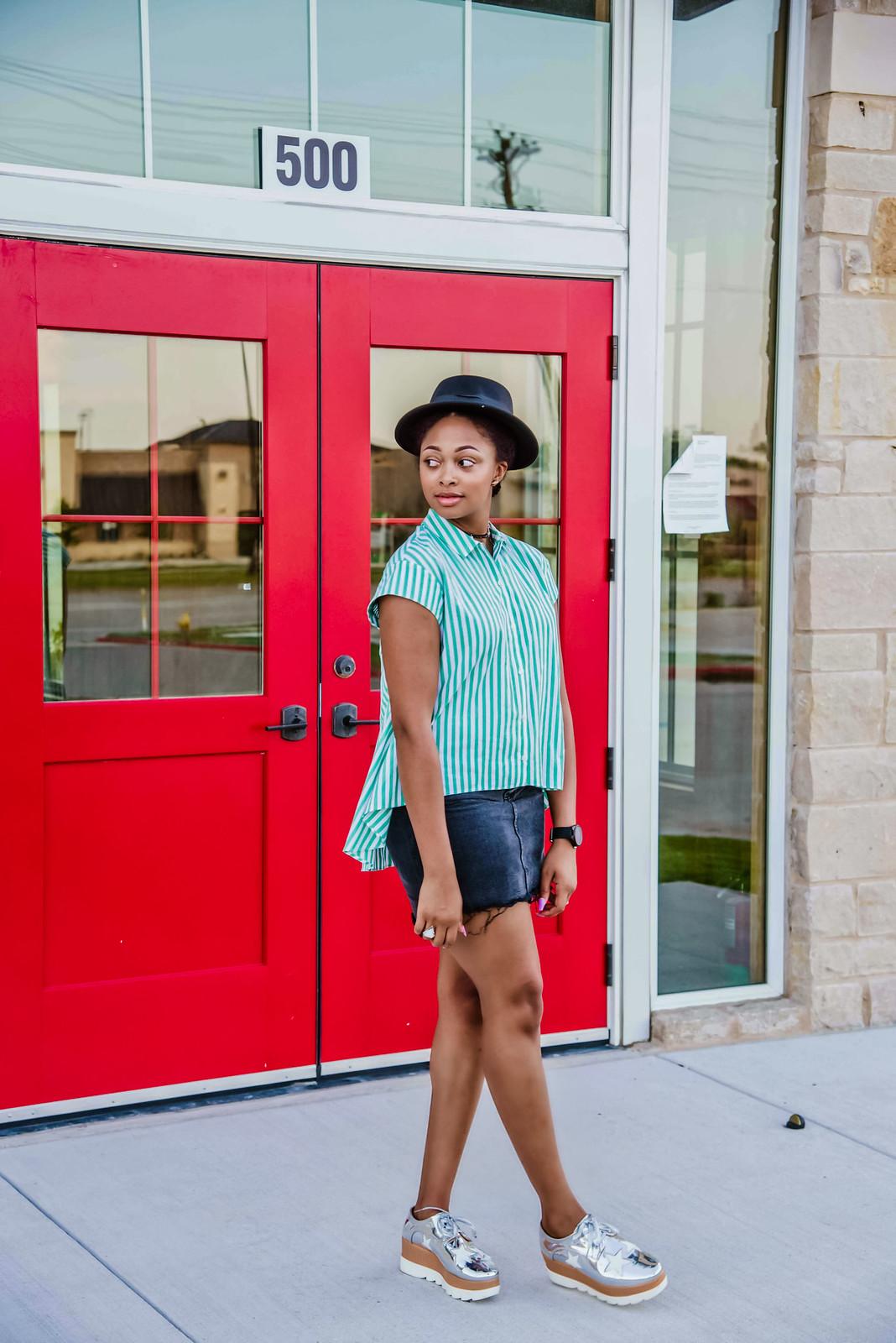Zara button down shirt, Dallas fashion blogger
