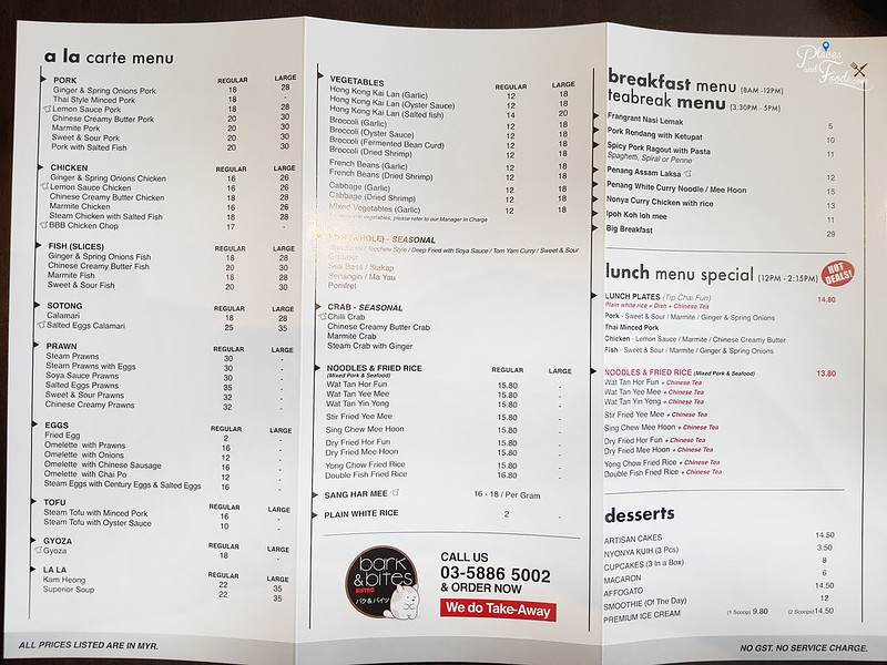 bark and bites bistro menu