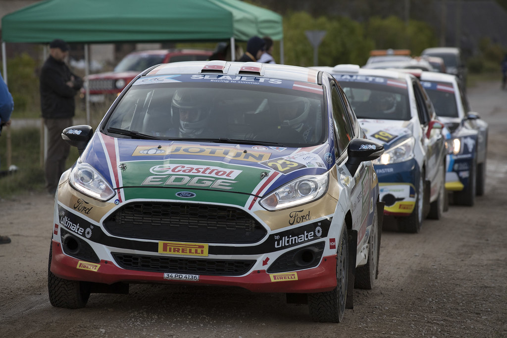 23 Özdemir Ümit Can and Memisyazici Batuhan, Castrol Ford Team Türkiye, Ford Fiesta R2T action during the 2017 European Rally Championship ERC Liepaja rally,  from october 6 to 8, at Liepaja, Lettonie - Photo Gregory Lenormand / DPPI