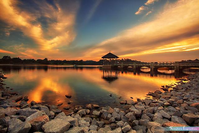 Sunset at Lower Pierce Reservoir, *Corners of Singapore*