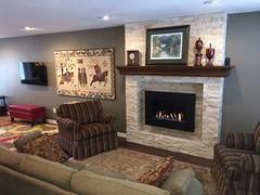 Solas Twenty 6 wall mounted gas fireplace.