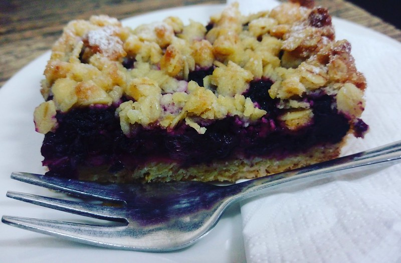 Home made berry crumble