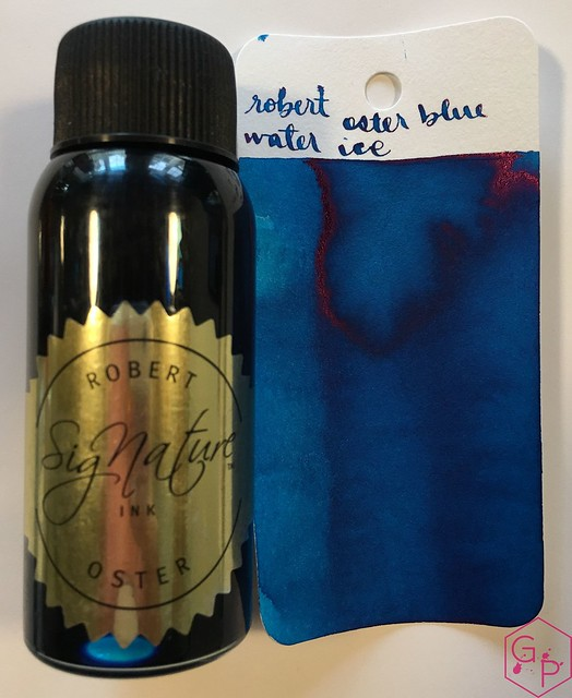 Ink Shot Review @RobertOsterInk Blue Water Ice @MilligramStore 3