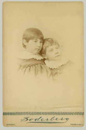 Cabinet Card two young children