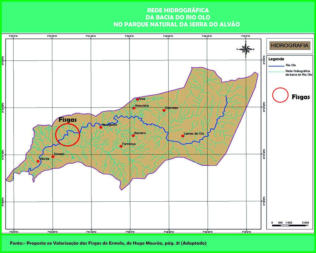 18b.- Fisgas de Ermelo - Rede Hidrográgica na área do PNA