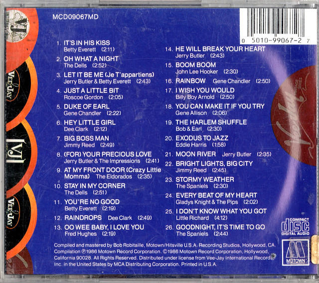 M09067 MCD09067MD 4 Various Artists - Hits From The Legendary Ve Jay Records