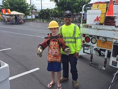 "Hawaii Electric Light at Home Depot Kailua-Kona's ""Fire Fest"" - October 7, 2017: Just like our linemen!"