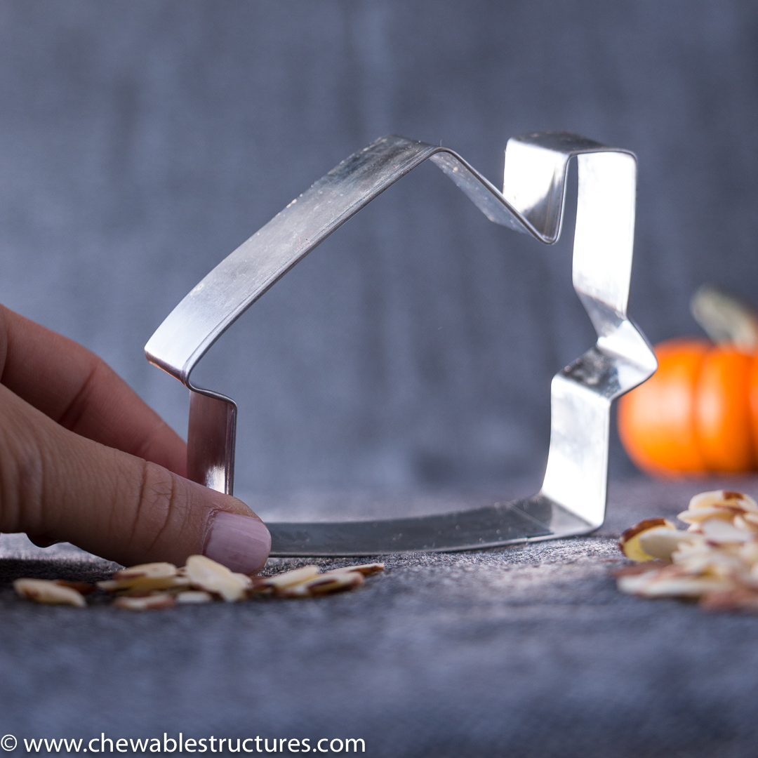 Haunted house cookie cutter.