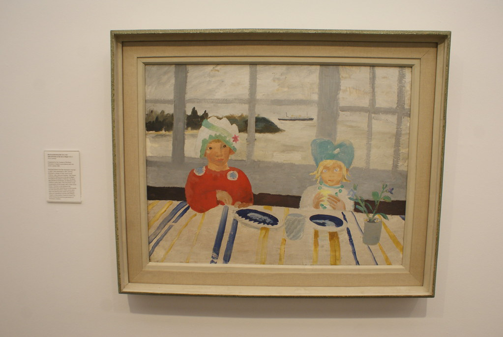 "Oeuvre ""jack and Nicole in the Isle of Wight"" par l'artiste Winnifred Nicholson au musée d'art moderne d'Edimbourg."