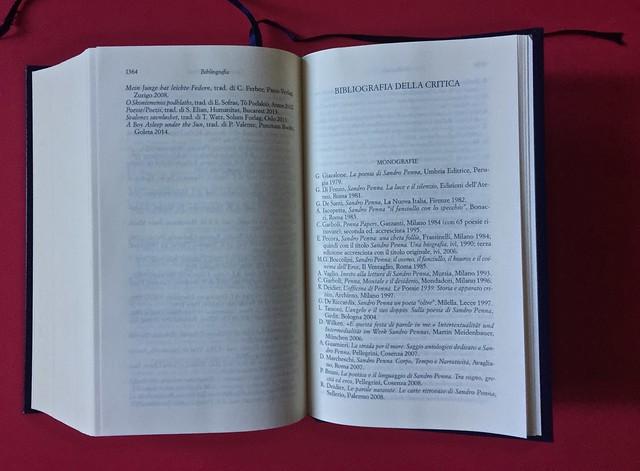 Sandro Penna, Poesie, prose e diari. Mondadori, i Meridiani; Milano 2017. Resp. gr. non indicata. Bibliografia, in coda al testo: a pag. 1364 e 1365 [part.].
