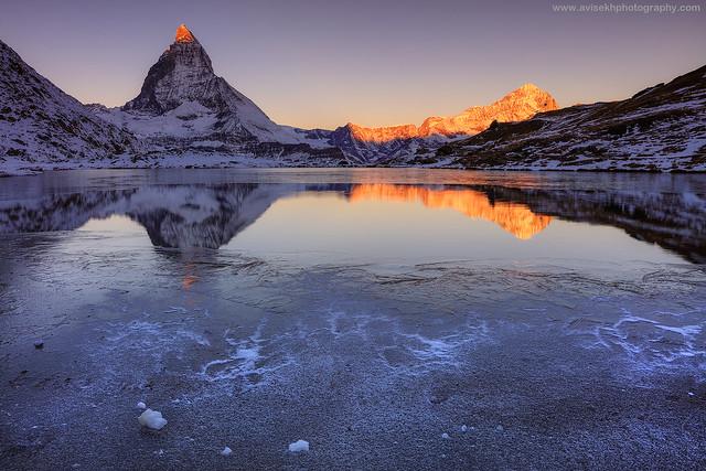 The First Ray @ Riffelseeweg, Zermatt Region, Switzerland