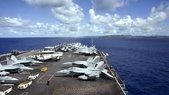 USS Theodore Roosevelt (CVN 71) approaches Guam, Oct. 31. (U.S. Navy/MC3 Robyn B. Melvin)