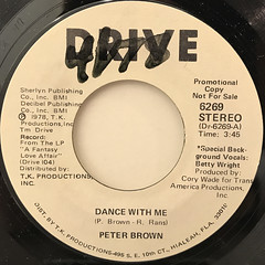 PETER BROWN:DANCE WITH ME(LABEL SIDE-B)