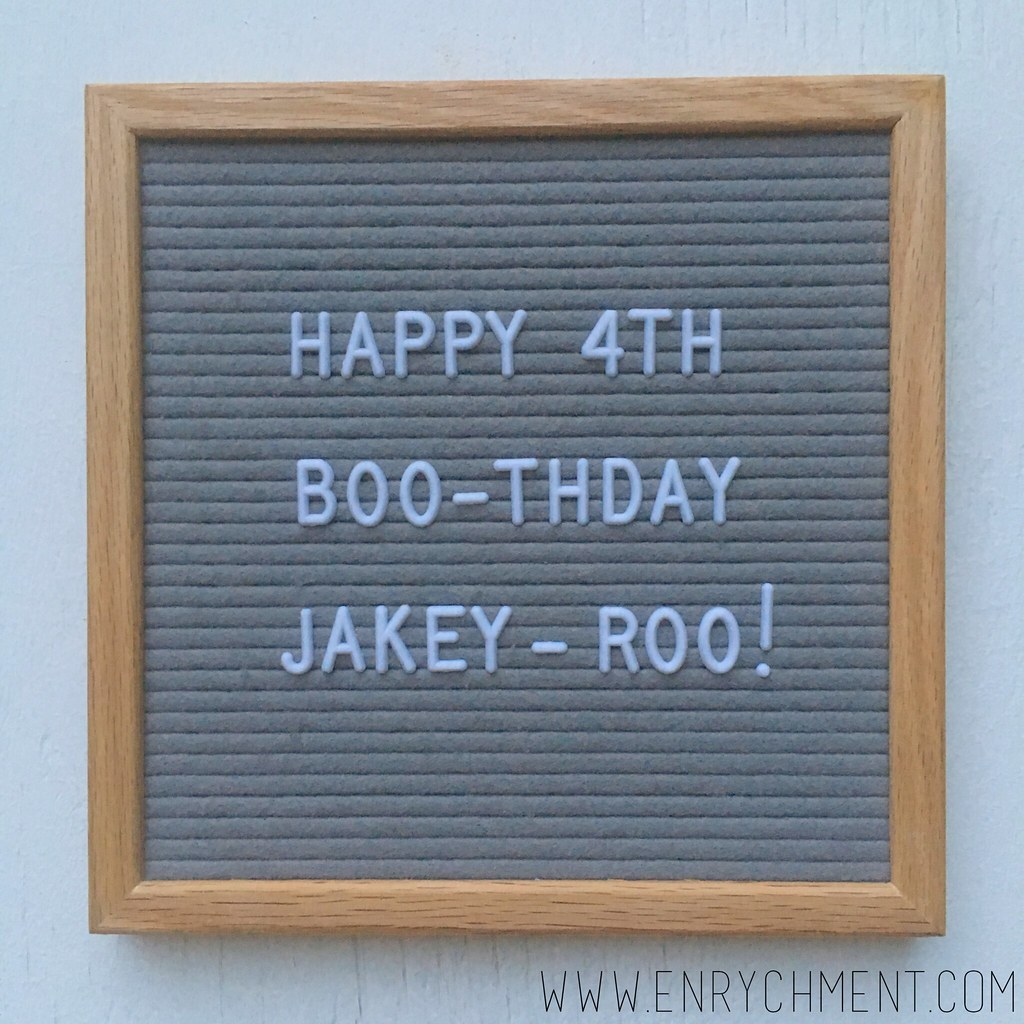 halloween birthday letterboard