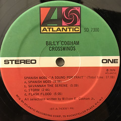BILLY COBHAM:CROSSWINDS(LABEL SIDE-A)