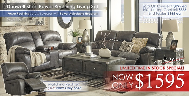 Dunwell Steel Reclining Set 51601_LimitedTimeSpecial