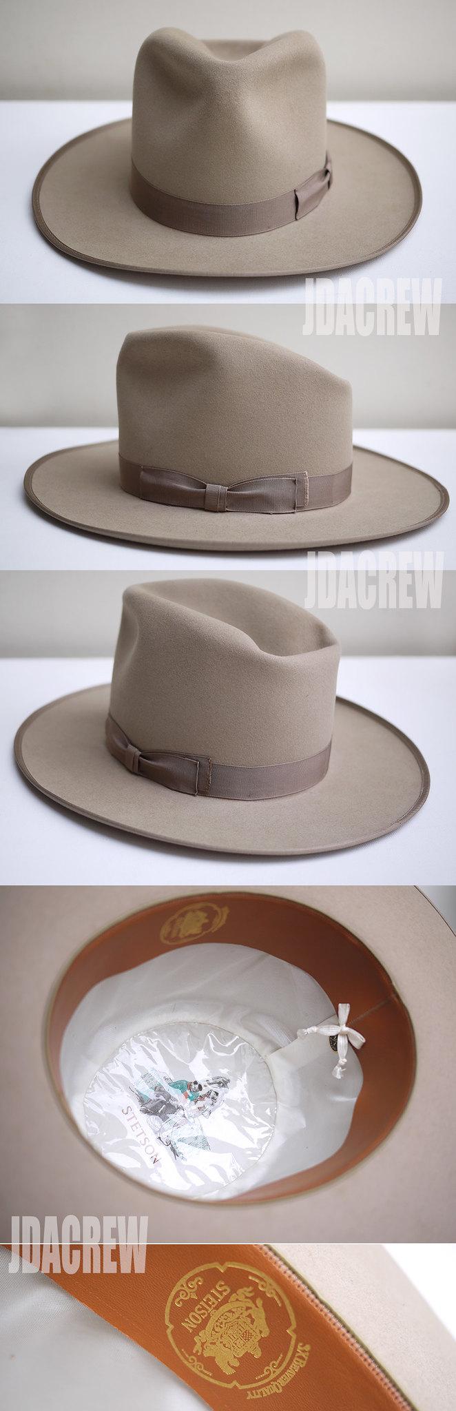 ジョニーデップ帽子ウエスタンベージュstetson