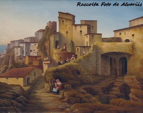 1853 Veduta di Cervara, dipinto  di Jacob Jacobson, By Wikypedia