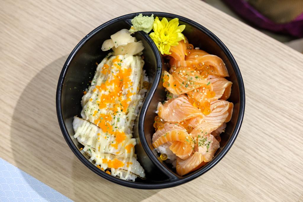 Duo Engawa & Salmon Don