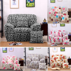 Four Seater Textile Spandex Strench Flexible Printed Elastic Sofa Couch Cover Furniture Protector (1081540) #Banggood